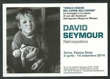 David Seymour - Retrospettiva - cartolina invito a Mostra