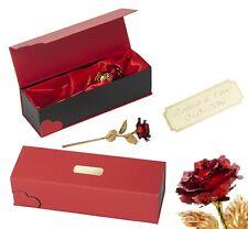 Rot Goldene Vergoldete EWIGE Gold Rose GRAVUR Valentinstag Hochzeitstag Geschenk