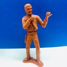 "Louis Marx western cowboy toy figure 1960s brown 5 inch 5"" spurs apache village"