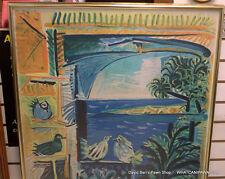 """1962 Pablo Picasso Original Cannes A.M. Travel Poster 39x26"""" Mourlot Paris"""