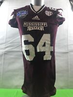 Mississippi State 2015  Game Issued Worn Belk Bowl Jersey Hail State WOW LOOK