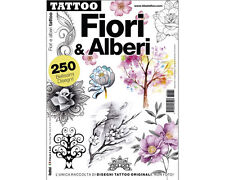 FLOWER & TREE Tattoo Flash Design Book 66-Pages Sketch Black Color Art Supply