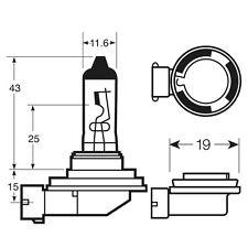 Osram H8 12V 708 35W Car Automotive Bulb Headlamp Head Light Standard Halogen