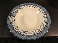 """Queen's China Historic Royal Palaces 9"""" Rimmed Soup Bowl Blue & White"""