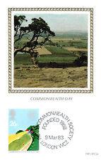 (9539) Commomwealth Day Landscape BENHAM cartone seta FDC