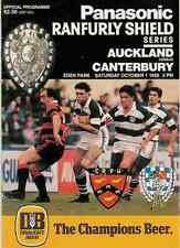 Auckland v Canterbury 1 Oct 1988 Ranfurly Shield, NZ Rugby Programme