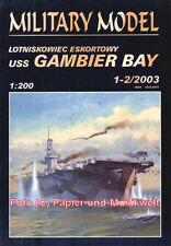"Halinski MM 2003/1-2 -  Geleitflugzeugträger USS ""Gambier Bay"" - 1:200"