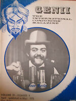1975 Genii Magician Magazine - Jean Merlin; Five Ropes Routine Trick