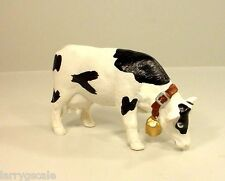 2 Premium Cows w Bell Miniature Figures for Modeling Dioramas