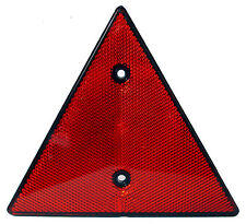 Triangular Red Reflector- Screw-fit Rear Triangle for Trailers Caravans Gatepost
