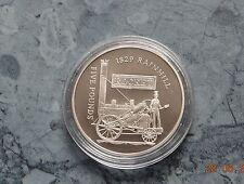 Alderney 5 Pounds 2004 PP , Ag.925er - 28,28 g. * Lokomotive ~ ROCKET