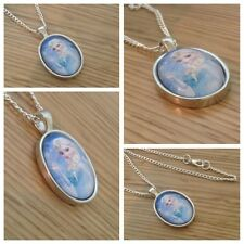 Frozen **oval** charm necklace