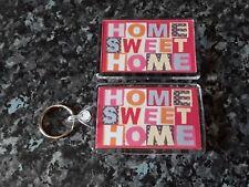 Home Sweet Home Jumbo Keyring and Fridge Magnet Set. NEW. House Warming Gift
