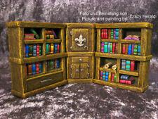 Bookshelves #2 /w Cupboard Thomarillion Unpainted Resin Dwarven Forge D&D