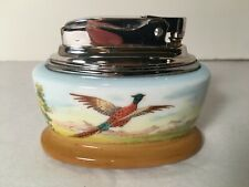 MINTON HAND PAINTED & SIGNED BONE CHINA RONSON TABLE LIGHTER ENGLAND