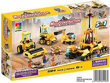 Woma Die Baustelle mit Fahrzeugen 5 in 1 Bausteine Set  584 Teile J5762A