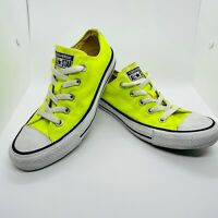 Converse Chuck Taylor Low Top Neon Yellow Size Women's 6 Men 4 139792F