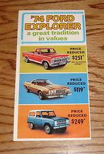 Original 1974 Ford Truck Explorer Sales Brochure 74