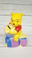 Walt Disney Vtg 1991 Bank Winnie The Pooh Sitting On Hunny Munny Pots Piggy Bank