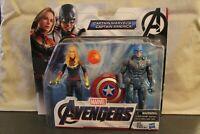 Marvel Avengers Endgame CAPTAIN MARVEL & CAPTAIN AMERICA  6-Inch 2 Pack Figures