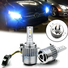 Ice Blue H7 8400LM Direct Fit LED Headlight Bulbs w/ Built-In Retainer Clips