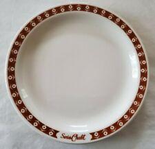Vintage Swiss Chalet Restaurant Saranac Lake NY Dinner Pie Plate Buffalo Oneida