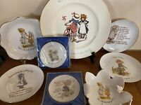 VTG Holly Hobbie Porcelain Plate Lot Of 8 Great Condition Gift Sister Love Home