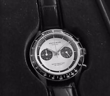 Hoffman RACING 40 Meca Chrono. Stainless Steel Wht Dial.Men's Watch-NEW in Box
