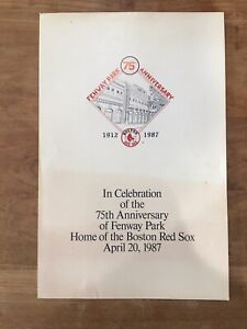 RARE Fenway Park 75th Anniversary Handout Poster Boston Red Sox HOF Ted Williams