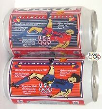OLYMPICS TEAM USA SOCCER FLYING DROP KICK BUDWEISER+BUD LIGHT SPORT BEER CAN SET