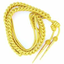 British Army Aiguillette Gold Wire Cord/US Military Officer Aiguillett/Navy/WWII