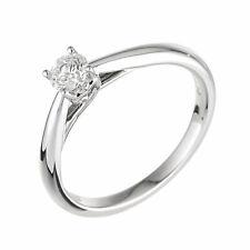 Ernest Jones 9 Carat White Gold 0.33 Carat Diamond Ring Size N.5  2.3g