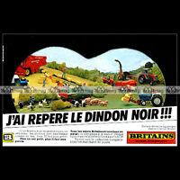 BRITAINS Machines agricoles Tracteur Moissonneuse 1979 Pub / Publicité / Ad #B30
