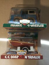 "2001 Chevron Cars "" Frankie 4 Wheeler and C.C. Boat ""  Vintage Collectible Toys"