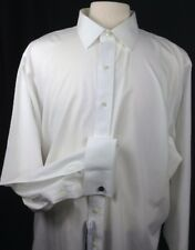 Brooks Brothers Men Traditional Fit Dress Shirt White Non-Iron 15-33 French Cuff