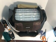 Large Tournament Choice Tackle Bag lot with 5 utility boxes, tons of accessories