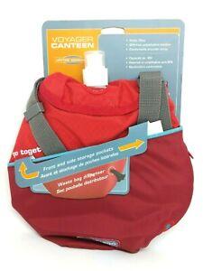 Kurgo Voyager Dog Water Canteen Holds 32 oz - Waste Bag Dispenser