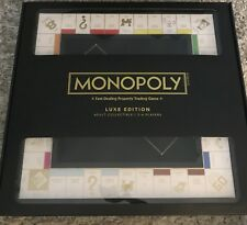 Monopoly Luxe RARE Luxury Edition Black Hard Wood Adult Collectible Ships Free