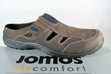 Jomos Men's Clogs Sabot Mules Slippers Leather Gray 455304 New