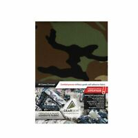 NATO woodland Milspec adhesive fabric wrap, Waterproof, IR camouflage EXTRA