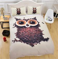 Bedding Set Quilt Cover Pillowcase 3D Printing Owl Three-Piece Of Various Sizes