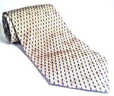 "Citta Alta 100% Silk Men's Tie Made in Italy Blue Gold Geometric  59""L 4""W"