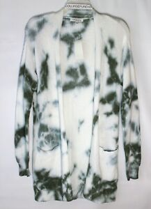HOOKED UP Tie Dye Cardigan Sweater Size XS Green Retail $49