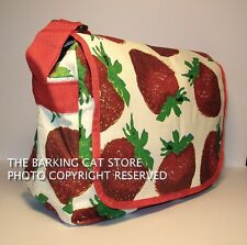 messenger bag cartoon funny quirky red fruit strawberry