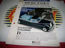Fascicule MERCEDES 300D LANDAULET TYPE W-189  DE CHEZ ATLAS NEUF