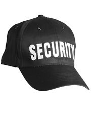 Security Black Baseball Cap Special Agent Tactical Hat 100% Cotton One Size