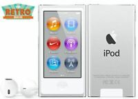 iPod nano 7th Generation Apple Silver (16GB) (Latest Model) w/ Bluetooth (NEW)
