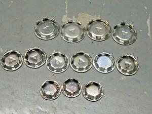 VINTAGE   TUBE  SNAP ON  STEEL CAPS PLUGS  LOT (13)  1.5'' 1.25''  1''  ORIGINAL