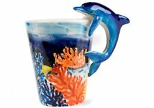 More details for dolphin gift, coffee mug handmade by blue witch