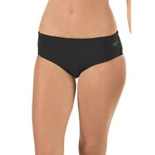 NEW Speedo Women's Endurance Lite Solid Black Boyshort Swim Bottom size 10